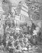 Dore 67 1Macc10 Jonathan Destroys the Temple of Dagon