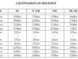 Calendario de Imladris