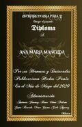 DIPLOMA POESÍA ANA MARÍA 2020