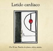 Latido Cardíaco, vitral, Lila Díaz Calderón