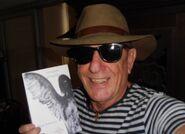 2) El escritor Diego Fortunato y su nueva novela.