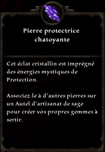 Pierre protectrice chatoyante