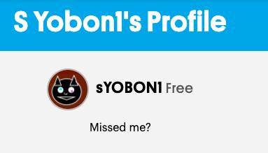 Profile: sYOBON1