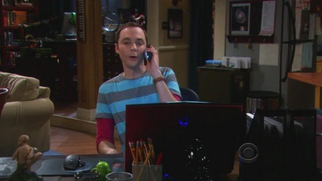 Sheldons Schreibtisch