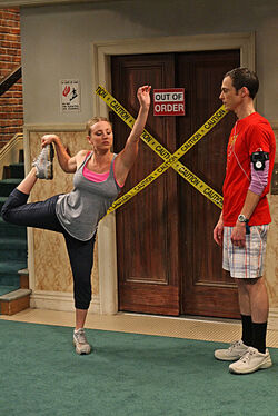 Sheldon and Penny Stretching2.jpg