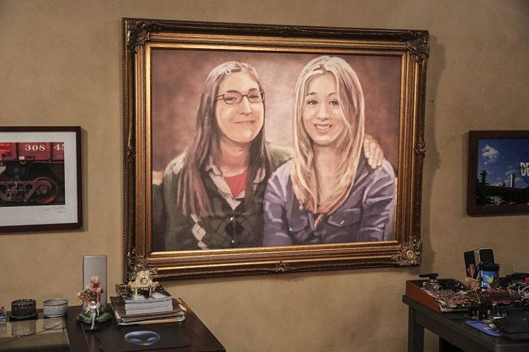 Painting of Penny and Amy