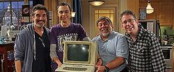 Steve Wozniak with the writers.jpg