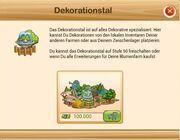 Die Information im Spiel bei Freischaltung des Dekotals.