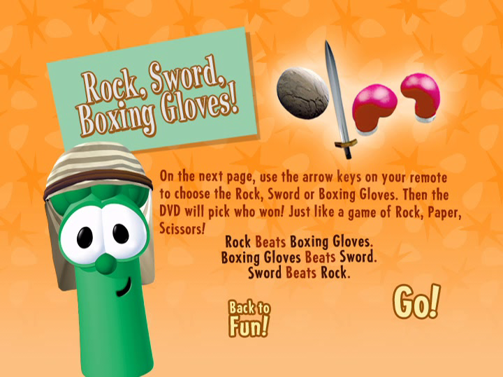 Rock, Sword, Boxing Gloves