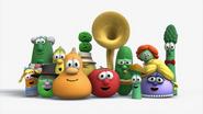 Veggietales characters are singing