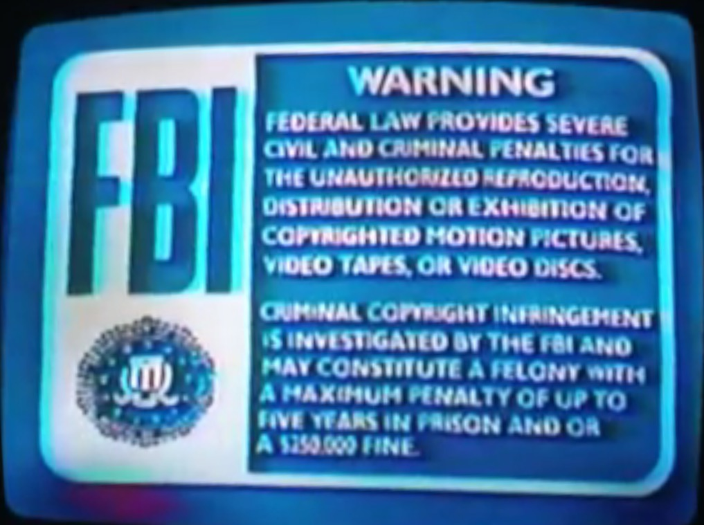 FBI Warnings