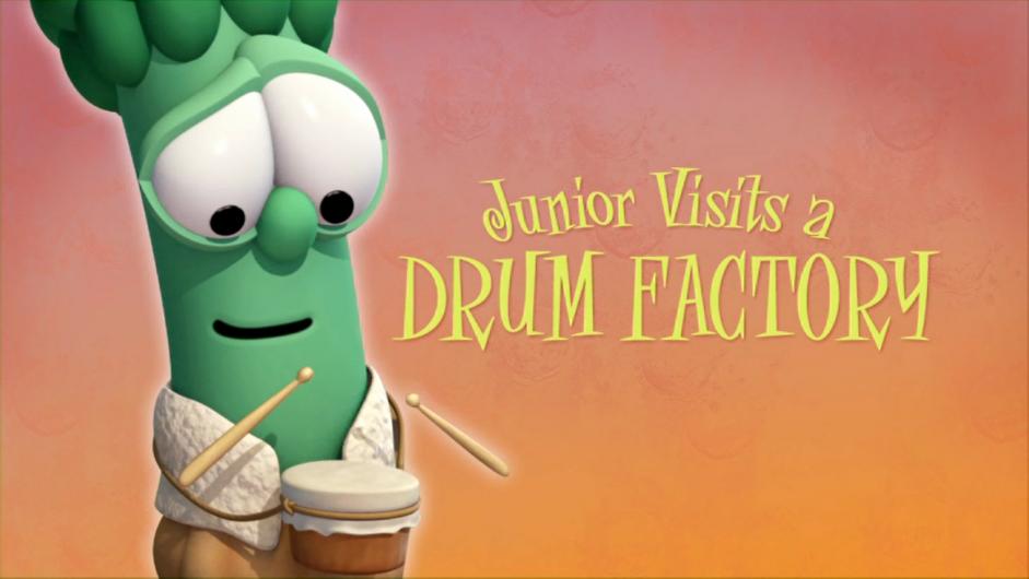 Junior Visits a Drum Factory