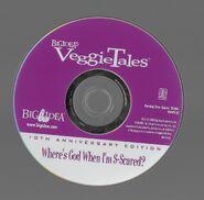 Veggietales where's god when im scared 10th anniversary 2003 dvd disc
