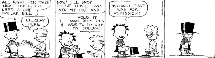 Comic Strip: April 30, 2003