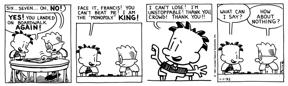 Comic Strip: January 1, 1992
