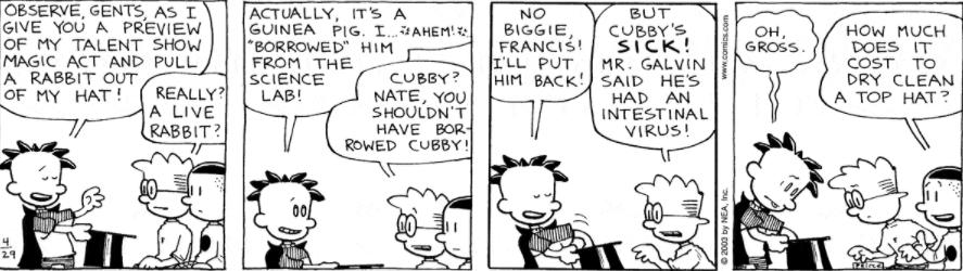 Comic Strip: April 29, 2003