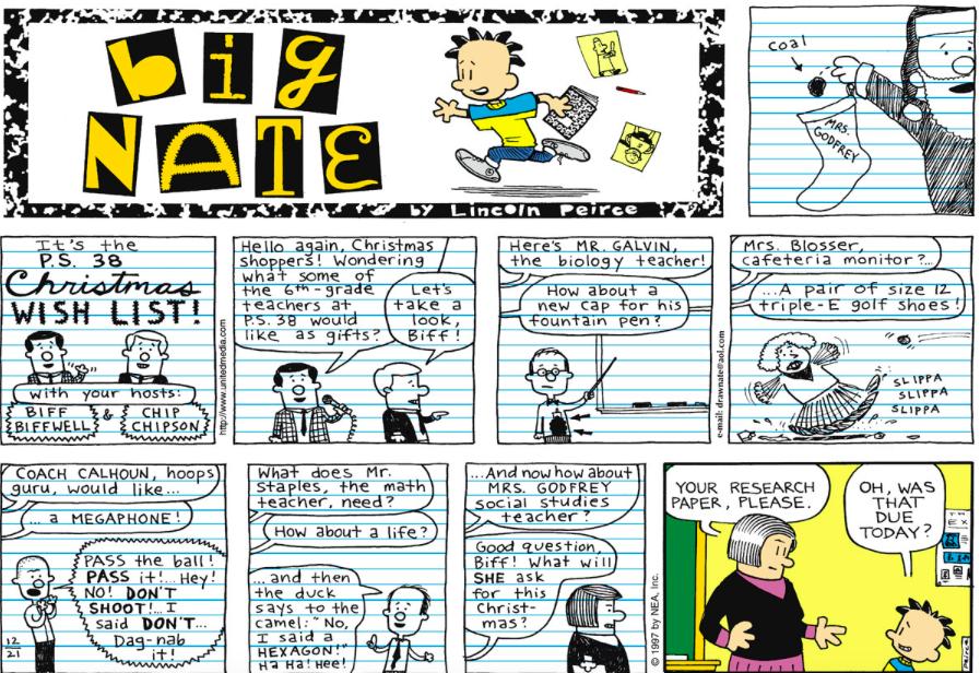 Comic Strip: December 21, 1997