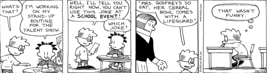 Comic Strip: April 25, 2003