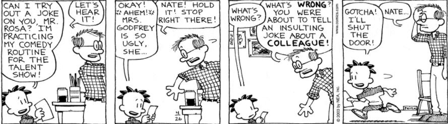 Comic Strip: April 26, 2003