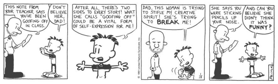 Comic Strip: January 19, 1991
