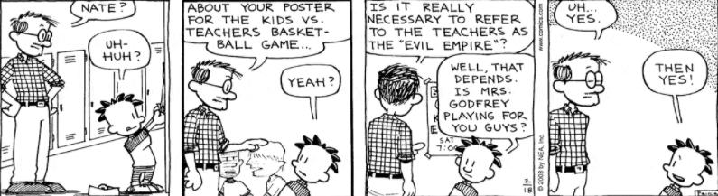 Comic Strip: February 18, 2003