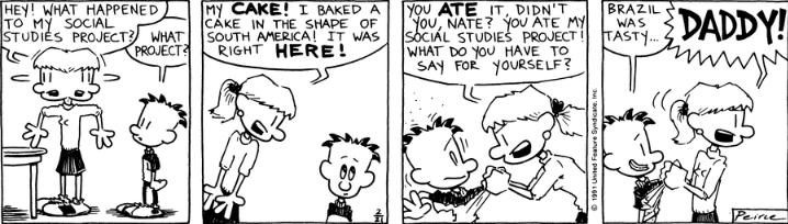Comic Strip: February 21, 1991
