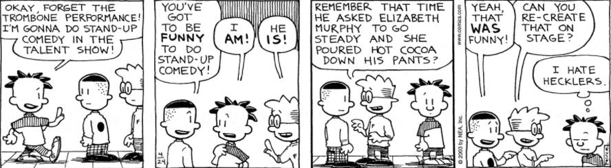 Comic Strip: April 24, 2003
