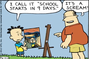 School Starts in 9 Days (painting)