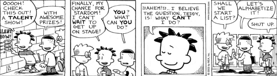 Comic Strip: April 21, 2003