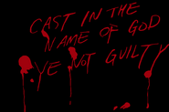 Cast in the name of god ye not guilty - 1