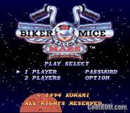 Biker Mice From Mars snes menu
