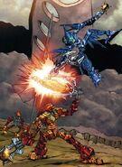 437px-Comic Glatorian Ackar Versus Kiina