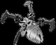 Hopeinen kallohämähäkki setti