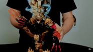 Makuta in the cancelled set form with the Mask of Ultimate Power