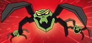 Vihreät kallohämähäkit animaatio