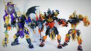 All 3 BIONICLE G2 Makuta Models