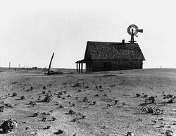 Dust Bowl farm north of Dalhart Texas Photograph.png