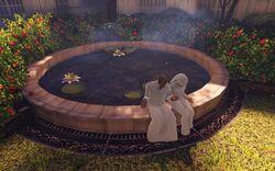 BioI Town Center Garden of New Eden Pilgrims by Pond.jpg