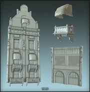 BioI Unused Hotel of Europe Facade Model Renders