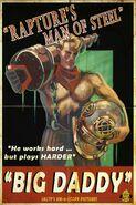 "Rapture's Man of Steel ""Big Daddy"" Film Poster"