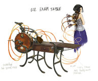 Elizabeth Exam Table concept art