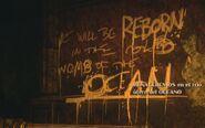 Mural Renaceremos en el frío útero del océano