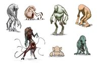 Early Creature Gatherer Concepts