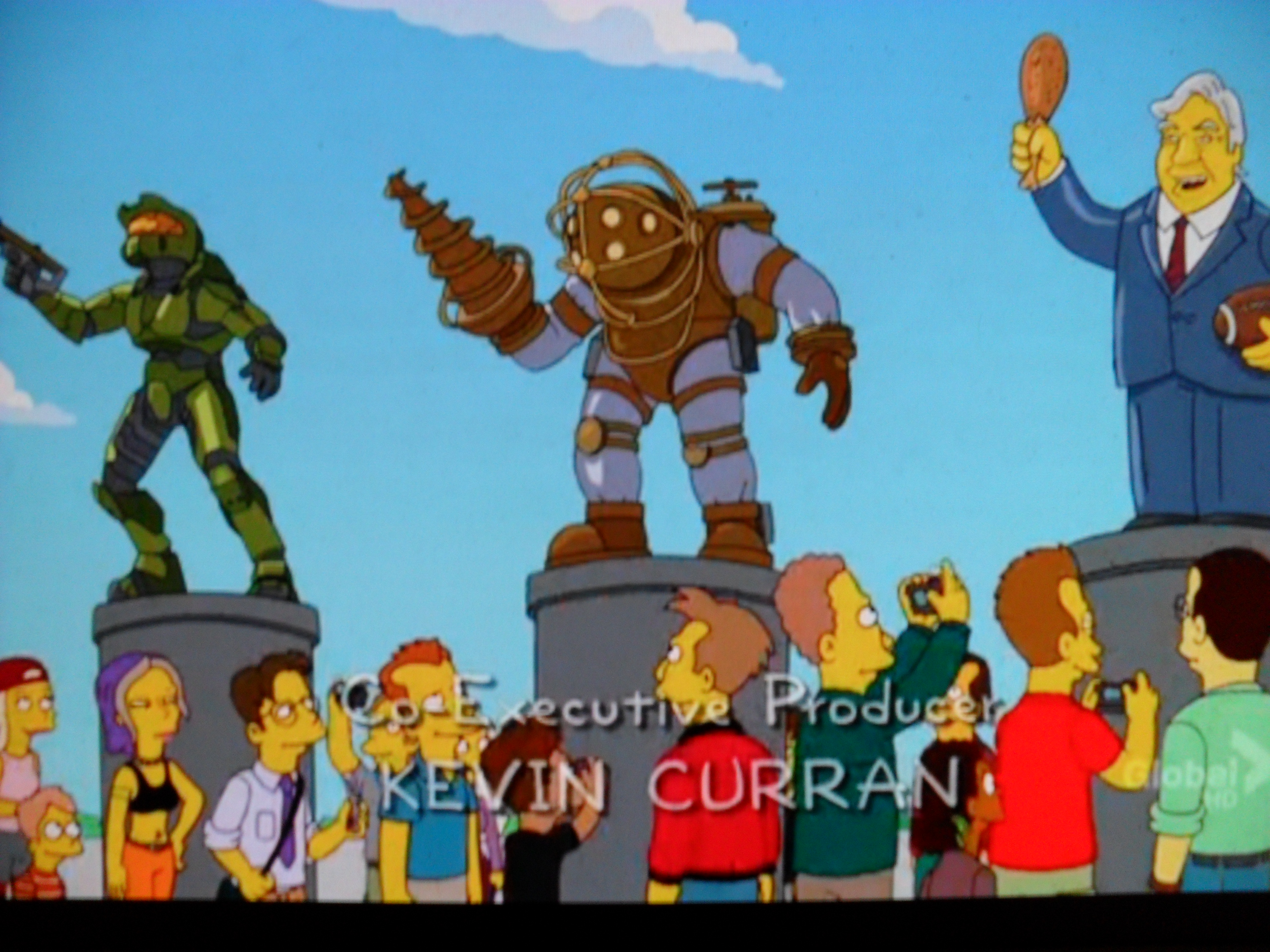 Evans0305/BioShock's Big Daddy Bouncer makes an appearance on The Simpsons