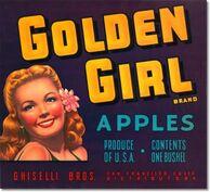 Golden Girl Apples Crate Label