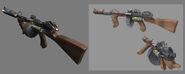 Machine Gun Model & Concept Art
