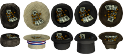 Hats with coin and bill tips.png