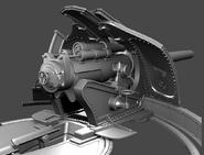 BioI Unused Artillery Cannon Render Back View