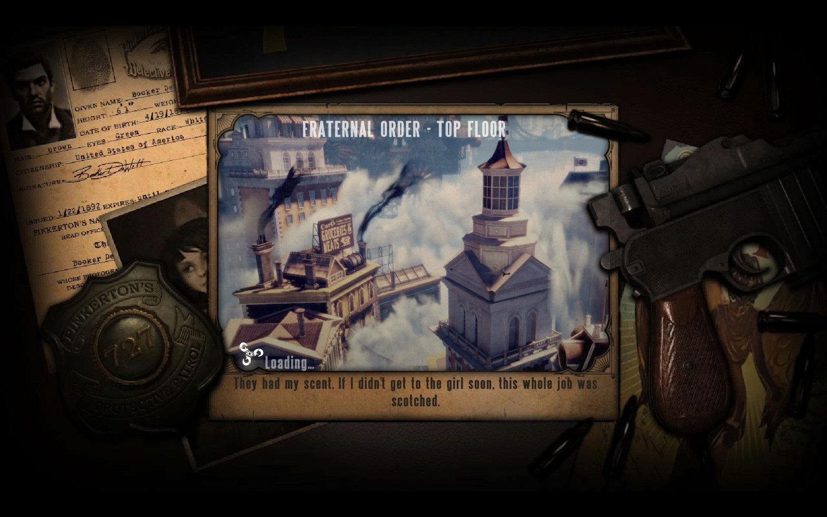 BioShock Infinite Loading Screen Quotes