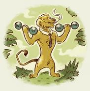 Unused Ryan the Lion Weights Propaganda Art